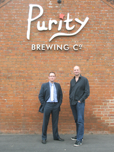 Stephen Moon at the Purity Brewery
